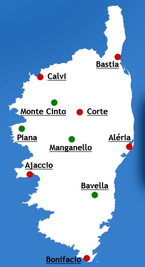 Mapa - Korsika